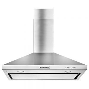 KitchenAid 36 in. Convertible Wall Mount Range Hood in Stainless Steel KVWB406DSS