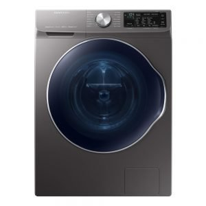 Samsung 2.2 cu. ft. Capacity Front Load Washer with Steam in Gray, ENERGY STAR WW22N6850QX