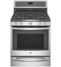 GE Profile™ 30″ Free-Standing Gas Convection Range PGB930SEJSS