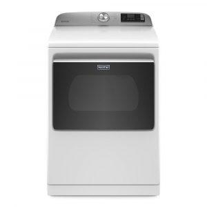 Model MED7230HW 7.4 cu. ft. 240-Volt Smart Capable White Electric Vented Dryer with Hamper Door and Steam