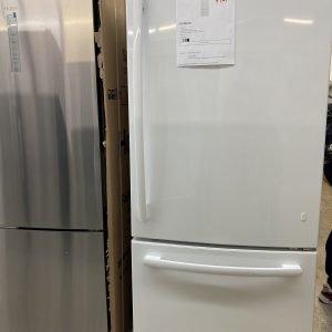 Model GBE21DGKWW GE Energy Star 21 cu. ft Bottom Freezer Refrigerator white