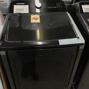 Samsung 7.4 cu. ft. Capacity Electric Dryer with Sensor Dry in Brushed Black DVE50R5200V/A3