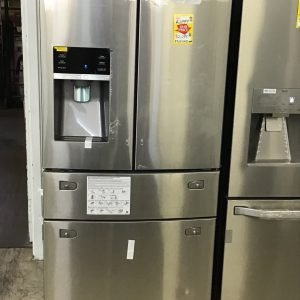 "Samsung 33"" wide 25 cu. ft. Large Capacity 4-Door French Door Refrigerator with External Water & Ice Dispenser in Stainless Steel"