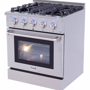 THOR Professional 30 Inch Dual Fuel Range in Stainless Steel.HRD3088U