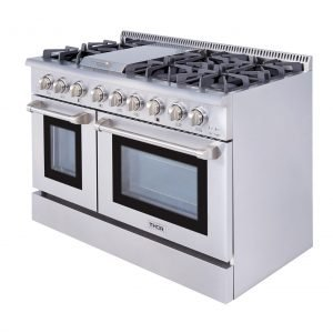THOR 48 Inch Professional Dual Fuel Range in Stainless Steel. HRD4803U