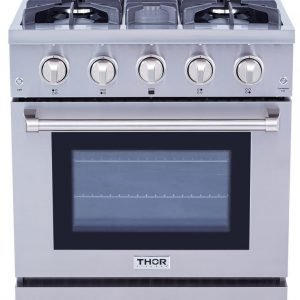 THOR 30 Inch Professional Gas Range in Stainless Steel. HRG3080U