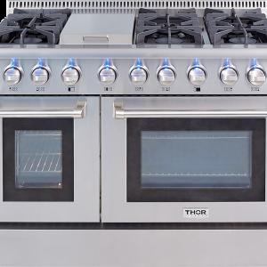 THOR 48 Inch Professional Liquid Propane Gas Range in Stainless Steel.HRG4808ULP