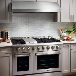 THOR 48 Inch Professional Range Hood, 11 Inches Tall in Stainless Steel.TRH4806