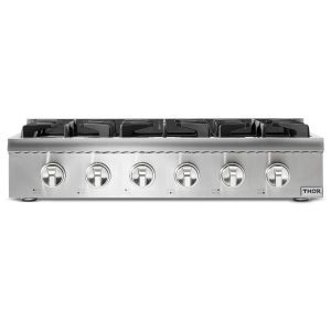 THOR 36 Inch Professional Gas Rangetop in Stainless Steel. HRT3618U